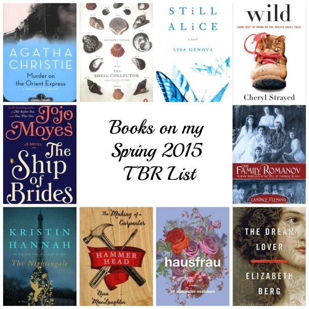 Spring TBR list