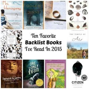 Favorite Backlist Books So Far ThisYear.