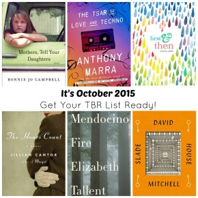 It's October 2015…Get Your TBR List Ready!