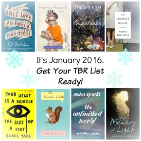 It's January 2016. Get Your TBR List Ready!