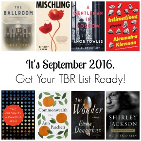 It's September 2016. Get Your TBR List Ready!